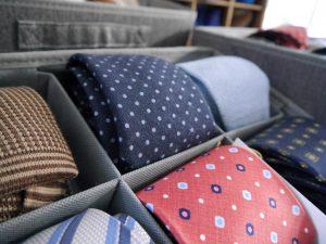 Krawatten, Seide