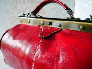 Handtasche, Leder,